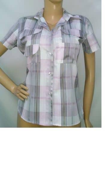 Foto Carousel Producto: Camisa Tipo Columbia Manga Corta A Cuadros Mujer GoTrendier