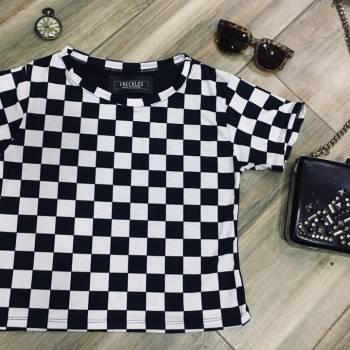 Foto Carousel Producto: Camiseta a cuadros en algodon  GoTrendier