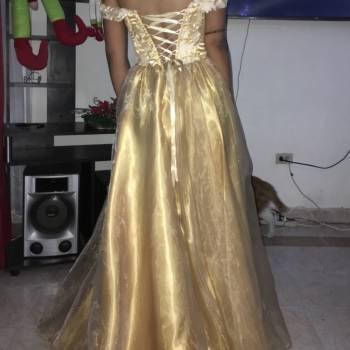 Foto Carousel Producto: Vestido dorado para eventos a corset GoTrendier