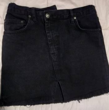 Foto Carousel Producto: Minifalda denim corte asimétrico GoTrendier
