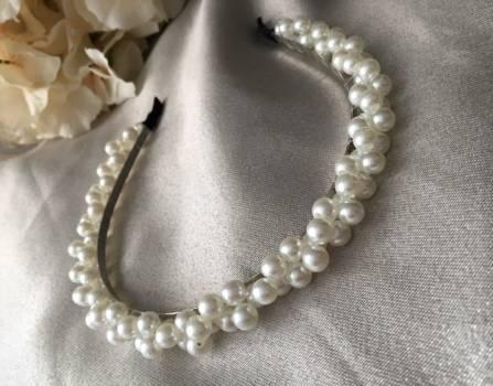 Foto Carousel Producto: Diadema o balaca hermosa de perlas  GoTrendier