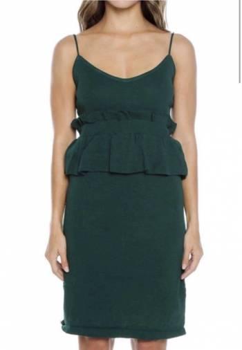Foto Carousel Producto: Vestido Verde en tejido de punto GoTrendier
