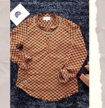Foto Carousel Producto: Camisa de cuadros mostaza GoTrendier