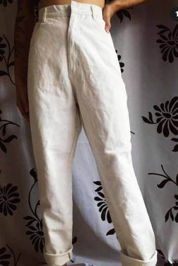 Foto Carousel Producto: Pantalón mom blanco 10/10 GoTrendier