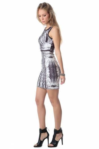 Foto Carousel Producto: Vestidocorto de lentejuelas y mostacilla GoTrendier