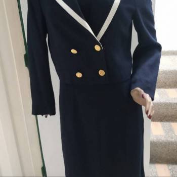 Foto Carousel Producto: Vestido con chaquetilla azul oscuro GoTrendier
