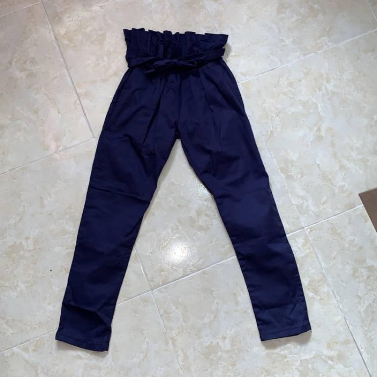 Pantalon Tela Tiro Alto De Varias Marcas De Segunda Mano Gotrendier