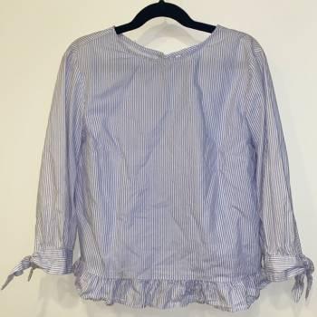 Foto Carousel Producto: Blusa manga 3/4 rayas azul con blanco GoTrendier