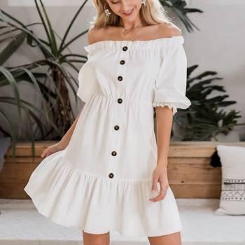 Foto Carousel Producto: Vestido hombros descubiertos  GoTrendier