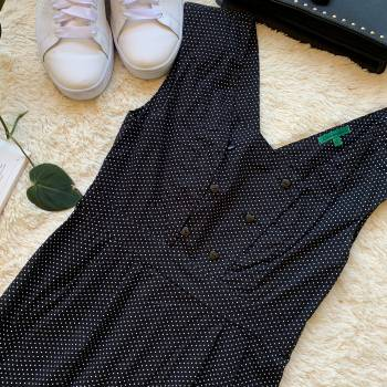 Foto Carousel Producto: VIRO003  Vestido Polka Dot negro con pu GoTrendier
