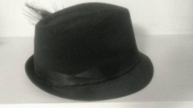 Foto Carousel Producto: Sombrero con tocado de plumas GoTrendier