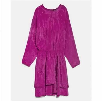 Foto Carousel Producto: Vestido morado corto  GoTrendier