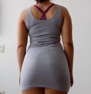 Foto Carousel Producto: Vestido casual ajustado gris GoTrendier
