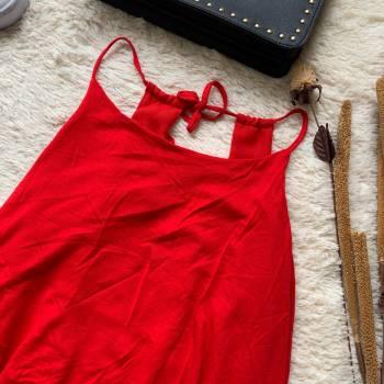 Foto Carousel Producto: VAMU017  Blusa tiras roja GoTrendier