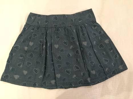 Foto Carousel Producto: Falda tela tipo jean con estampado de corazones GoTrendier