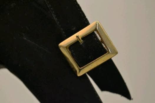 Foto Carousel Producto: Tacones altos negros en terciopelo GoTrendier