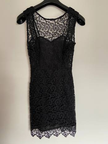 Foto Carousel Producto: Vestido Negro con Encaje GoTrendier