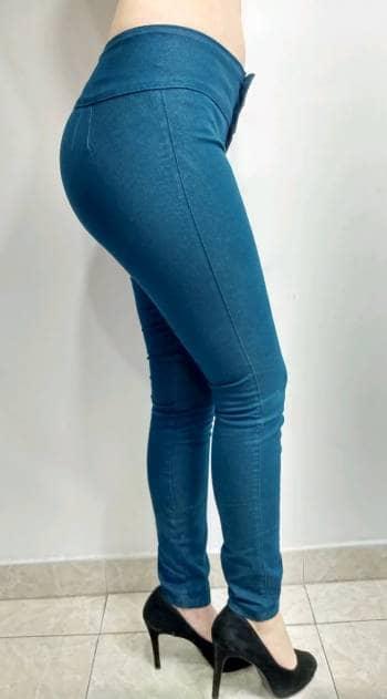 Foto Carousel Producto: Pantalon tipo tela color azul verdoso GoTrendier