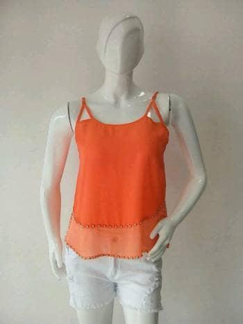 Foto Carousel Producto: Blusa naranja con taches GoTrendier