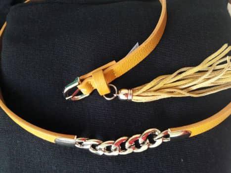 Foto Carousel Producto: Cinturón delgado con cadena y borla GoTrendier