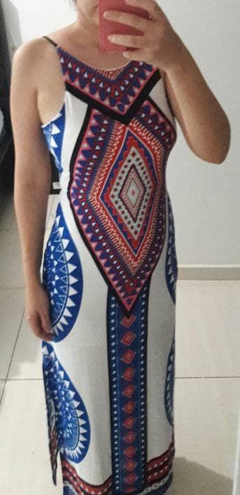 Foto Carousel Producto: Vestido largo espalda afuera GoTrendier