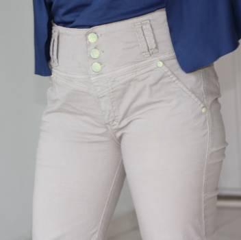 Foto Carousel Producto: Pantalón en jean caqui GoTrendier