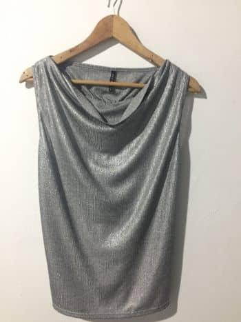 Foto Carousel Producto: Camisa sisa plateada GoTrendier