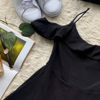 Foto Carousel Producto: VGL002  Vestido negro Tirantes GoTrendier