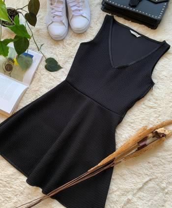 Foto Carousel Producto: MCM002   Vestido negro elegante (malla) GoTrendier