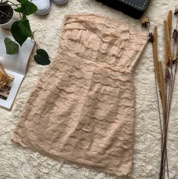 Foto Carousel Producto: VAMU016  vestido encaje palo de rosa GoTrendier