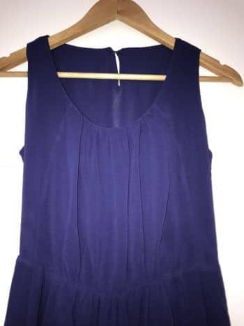 Foto Carousel Producto: Top azul con negro plisado a la cintura GoTrendier