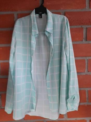Foto Carousel Producto: Camisa de cuadros verde  de forever 21 GoTrendier