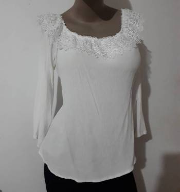 Foto Carousel Producto: Blusa campesina Blanca, talla L XL GoTrendier