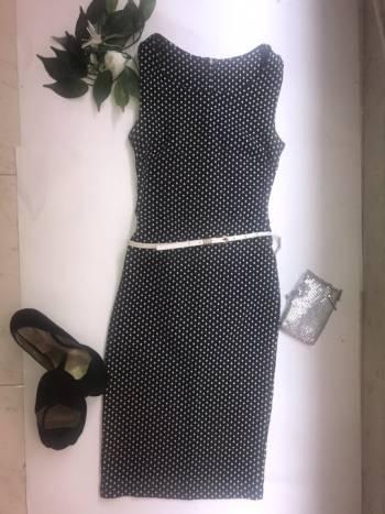 Foto Carousel Producto: Vestido manga sisa, con cinturon. GoTrendier