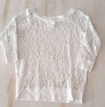 Foto Carousel Producto: Camisa en encaje blanco talla s GoTrendier