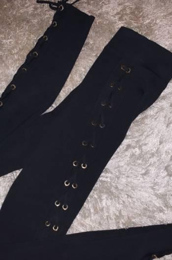Foto Carousel Producto: Pantalon tiro alto negro  GoTrendier