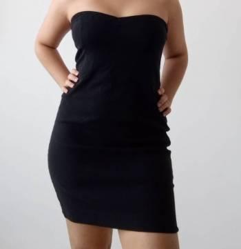 Foto Carousel Producto: Vestido negro strapless Zara GoTrendier