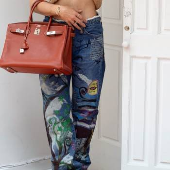 Foto Carousel Producto: Jeans Pintados a mano  GoTrendier