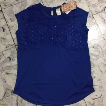 Foto Carousel Producto: Blusa azul con alliques - Talla L  GoTrendier