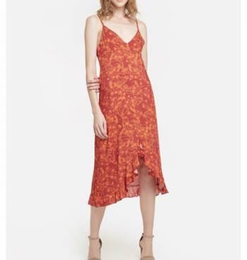 Foto Carousel Producto: Vestido largo detalle flores. GoTrendier