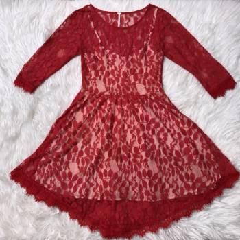 Foto Carousel Producto: Vestido Free People rojo encaje 0 GoTrendier