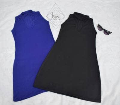Foto Carousel Producto: Vestido alternativo  disponible en azul y negro GoTrendier