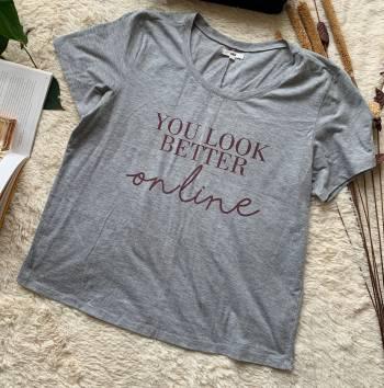 Foto Carousel Producto: NAGUE001   Camiseta Gris You Look Bette GoTrendier