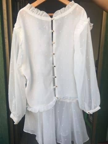 Foto Carousel Producto: Camisa 3/4 Blanca Bordada GoTrendier