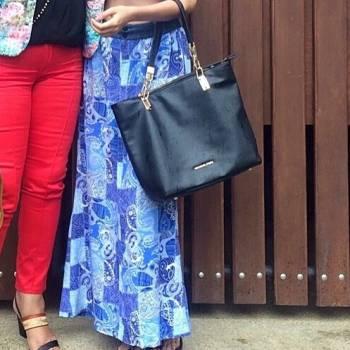 Foto Carousel Producto: Falda estampada azul  GoTrendier