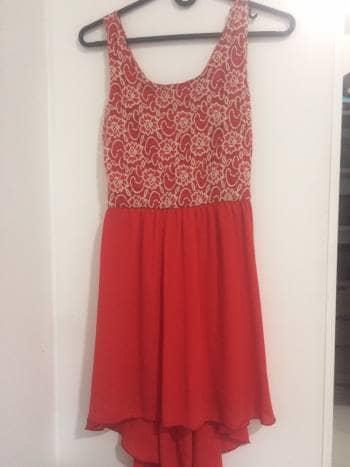 Foto Carousel Producto: Vestido rojo encaje GoTrendier