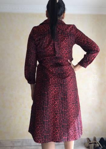 Foto Carousel Producto: Vestido largo animal print rojo  GoTrendier